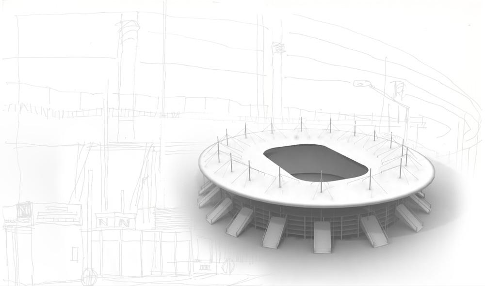 Création d'une version simplifiée du stade de France en 3D