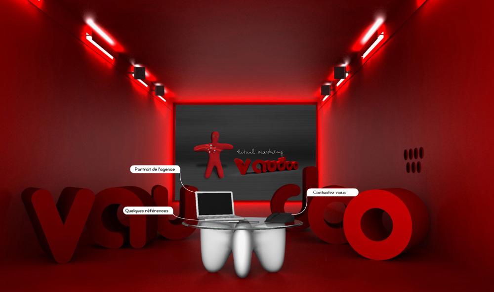 Création du site web de l'agence de communication globale Vaudoo - Animation Flash et 3D