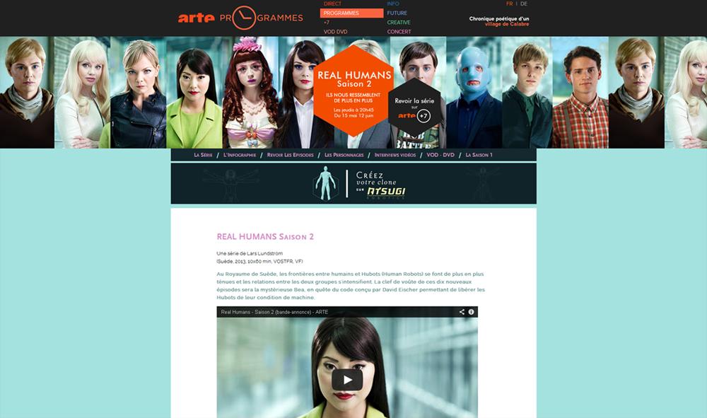 Création du site de la série éponyme en collaboration avec Arte France et Agatfilms