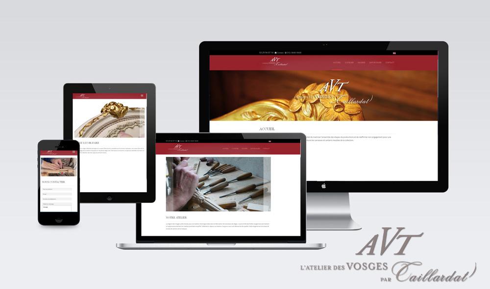 Site internet responsive webdesign, meubles, artisanat d'art, dorures